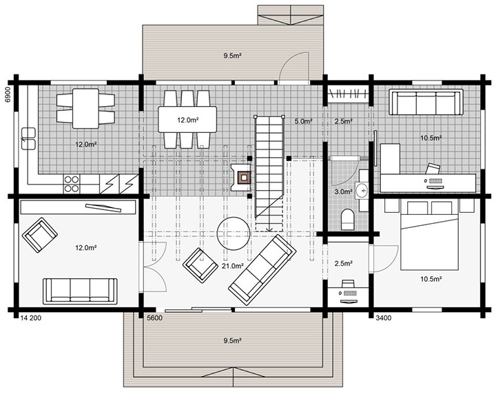 Проект деревянного дома Apertus