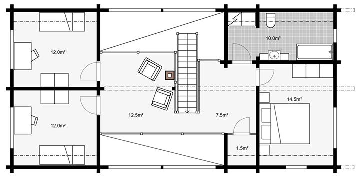 План строительства деревянного дома Apertus