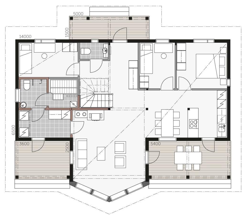 Проект небольшого дома из бруса