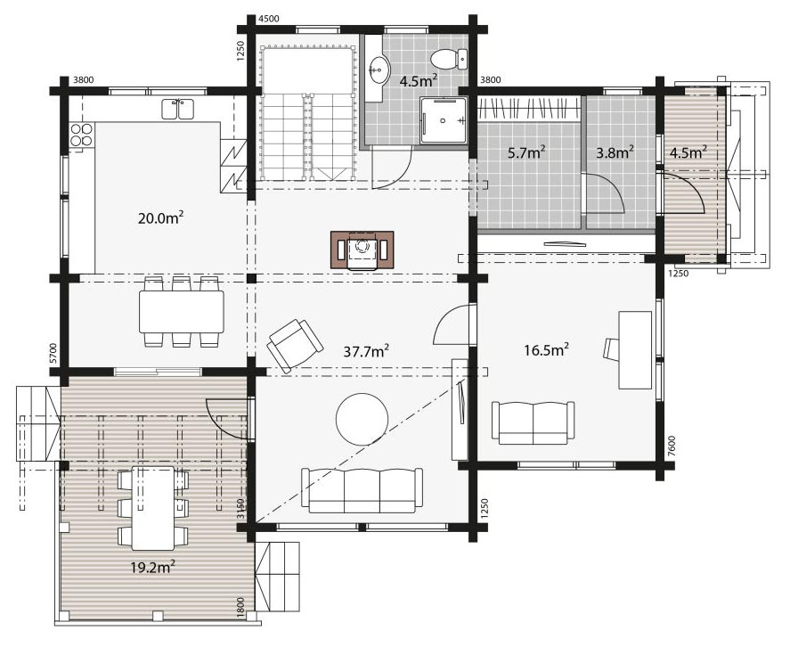 Небольшой проект двухэтажного дома