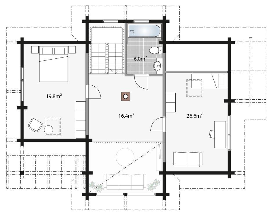 Проект мансардного деревянного этажа