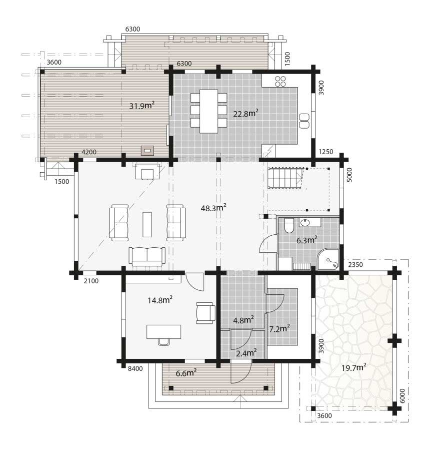 Планировка большого загородного дома