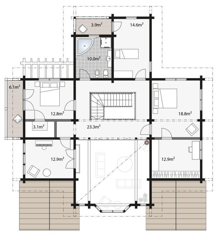 Планировка дома для здорового отдыха