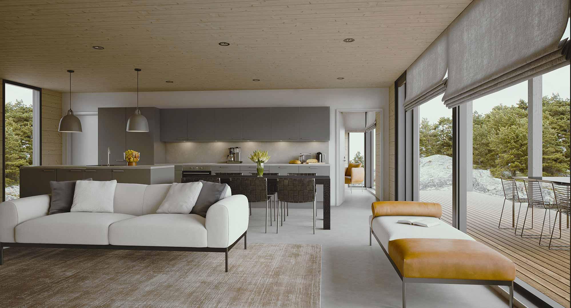 Дизайн дома в финском стиле