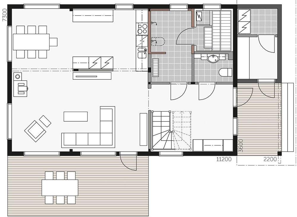 План практичного скандинавского дома