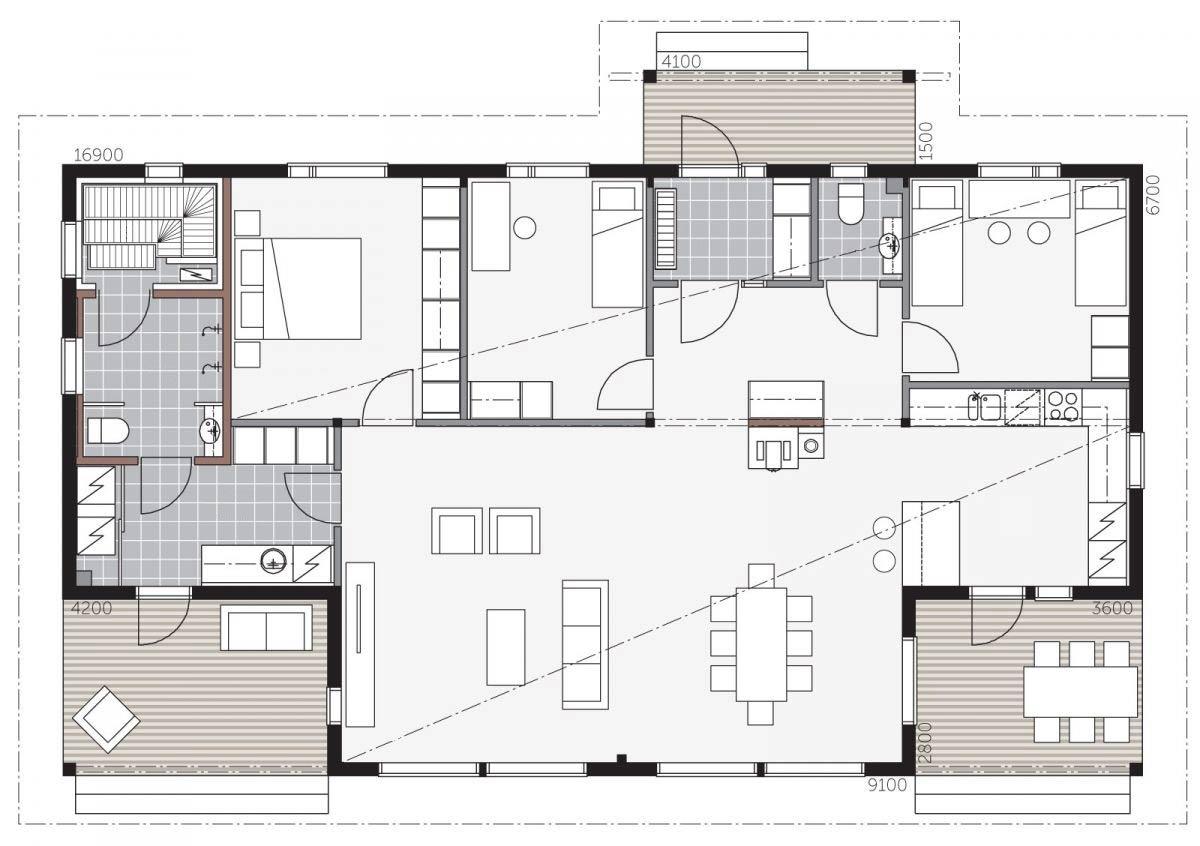 План дома для активного отдыха