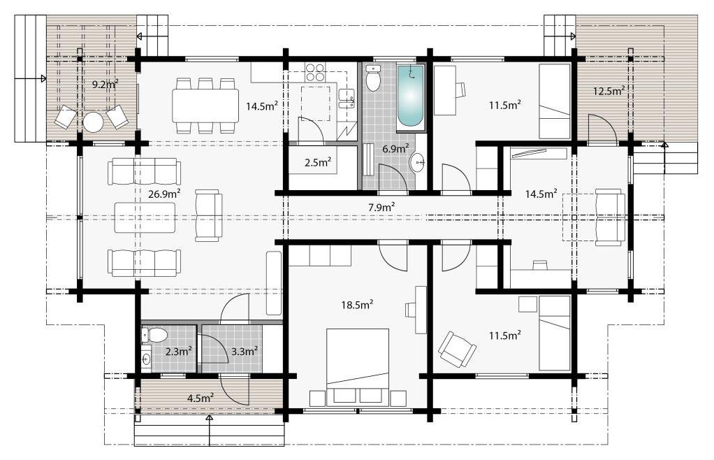 Проект дома для города