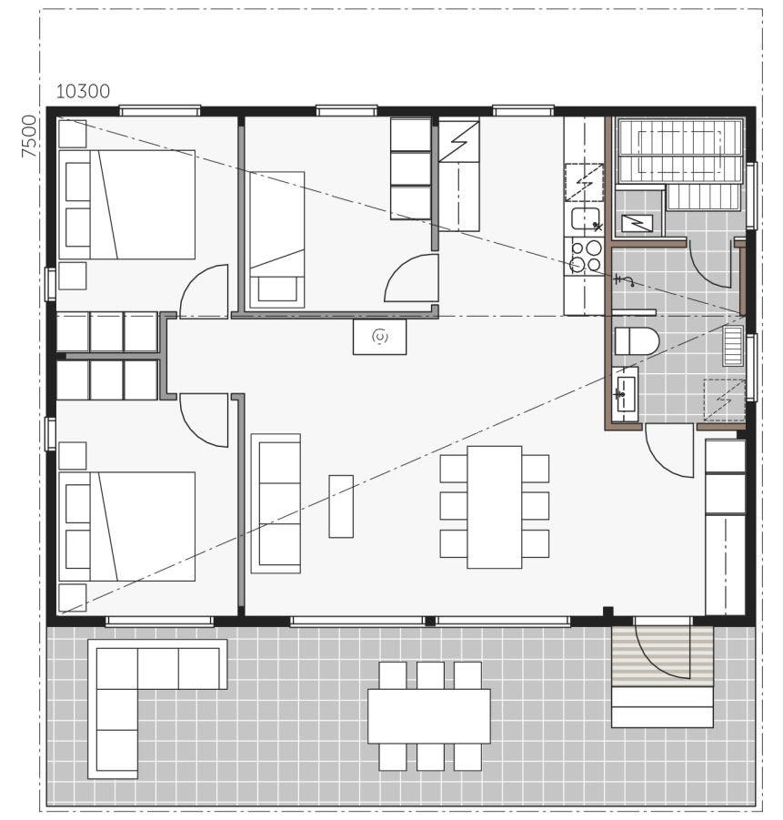 План дома Контио Скайхауз 80А