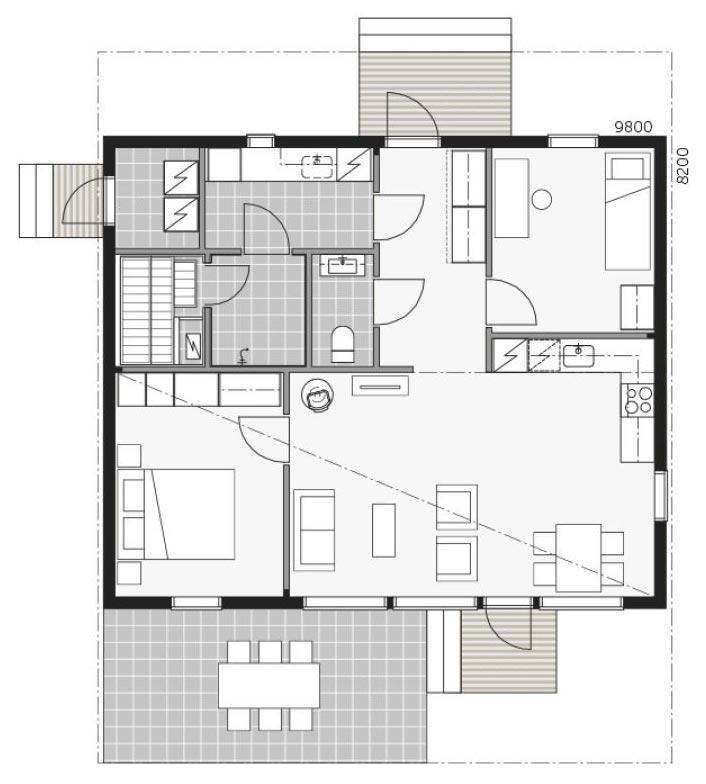План дома в скандинавском стиле Скайхауз 80Е