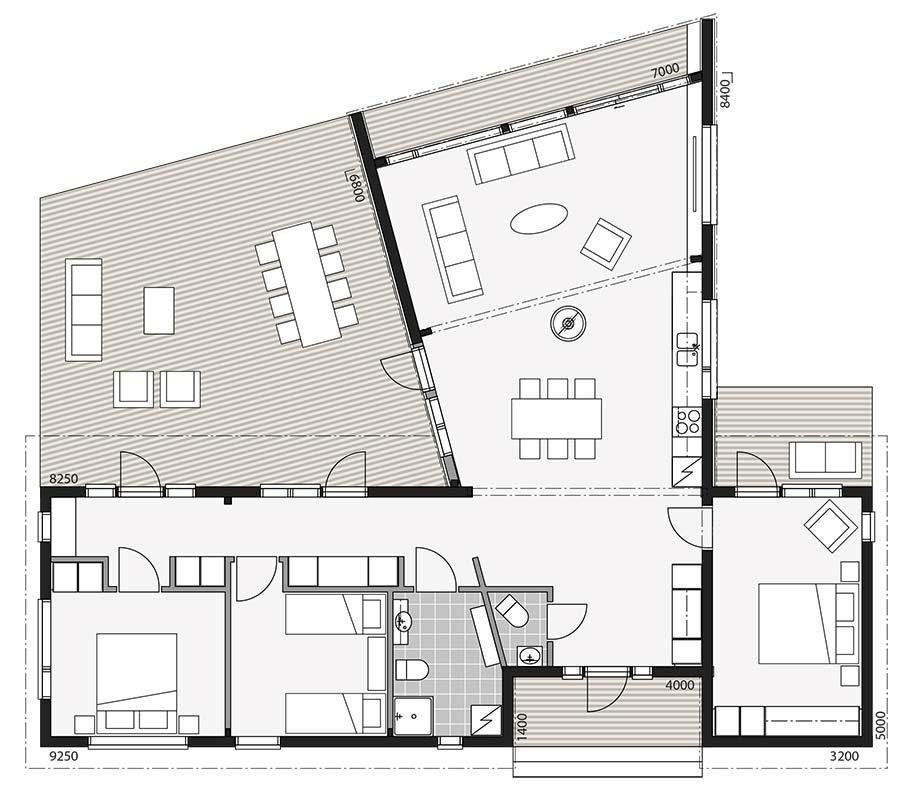 Проект одноэтажного дома хай-тек