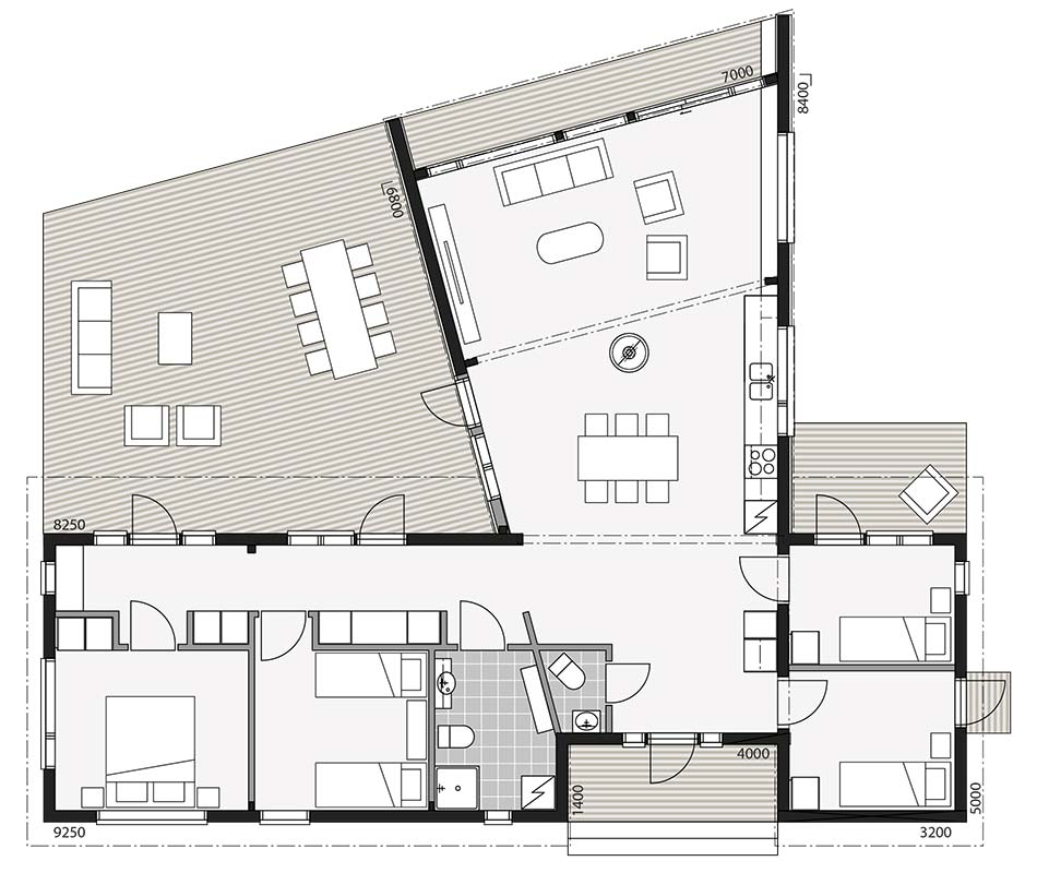Планировка современного европейского дома