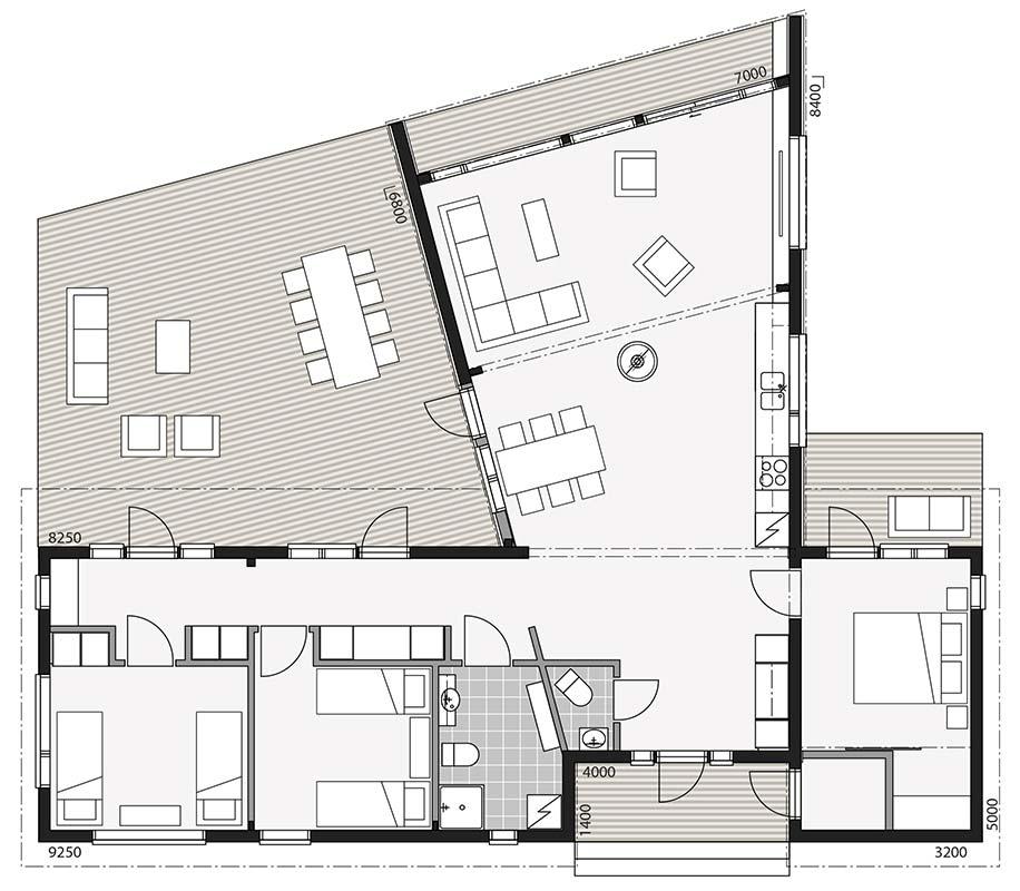 План дома в современного стиле