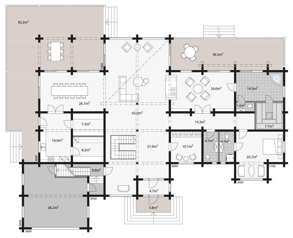 Планировка элитного дома Контио