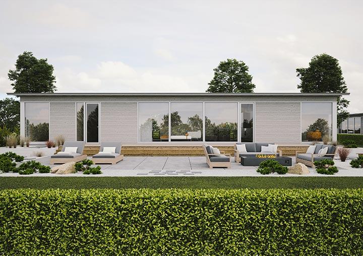 Проект индивидуального дома хай тек