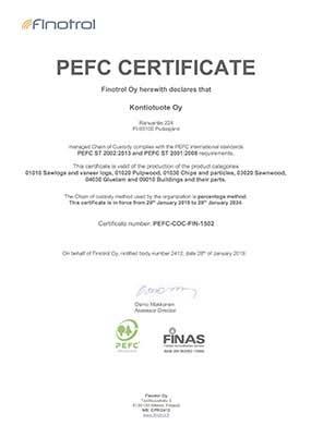 Сертификат о возобновляемой лесозаготовке