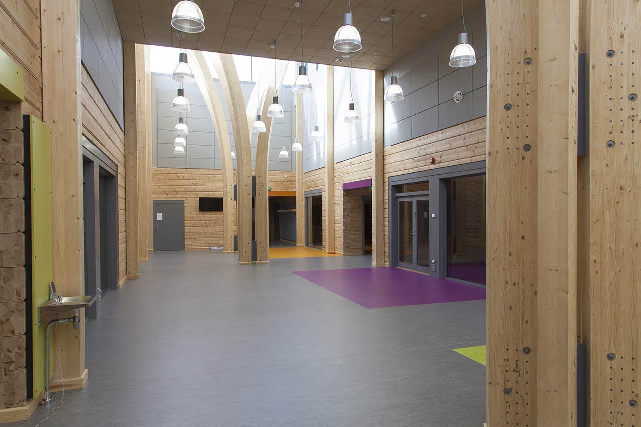 Интерьер школы в Финляндии