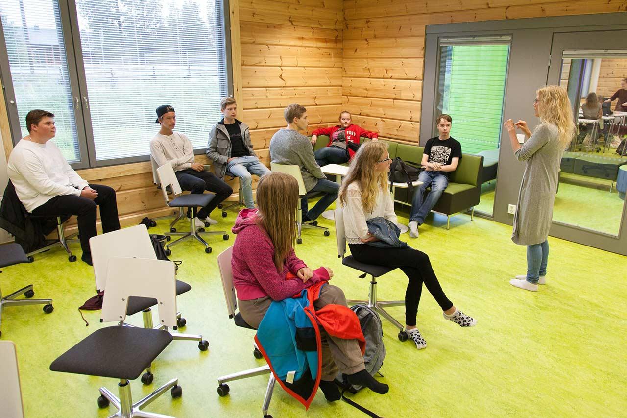 Классная комната в финской школе
