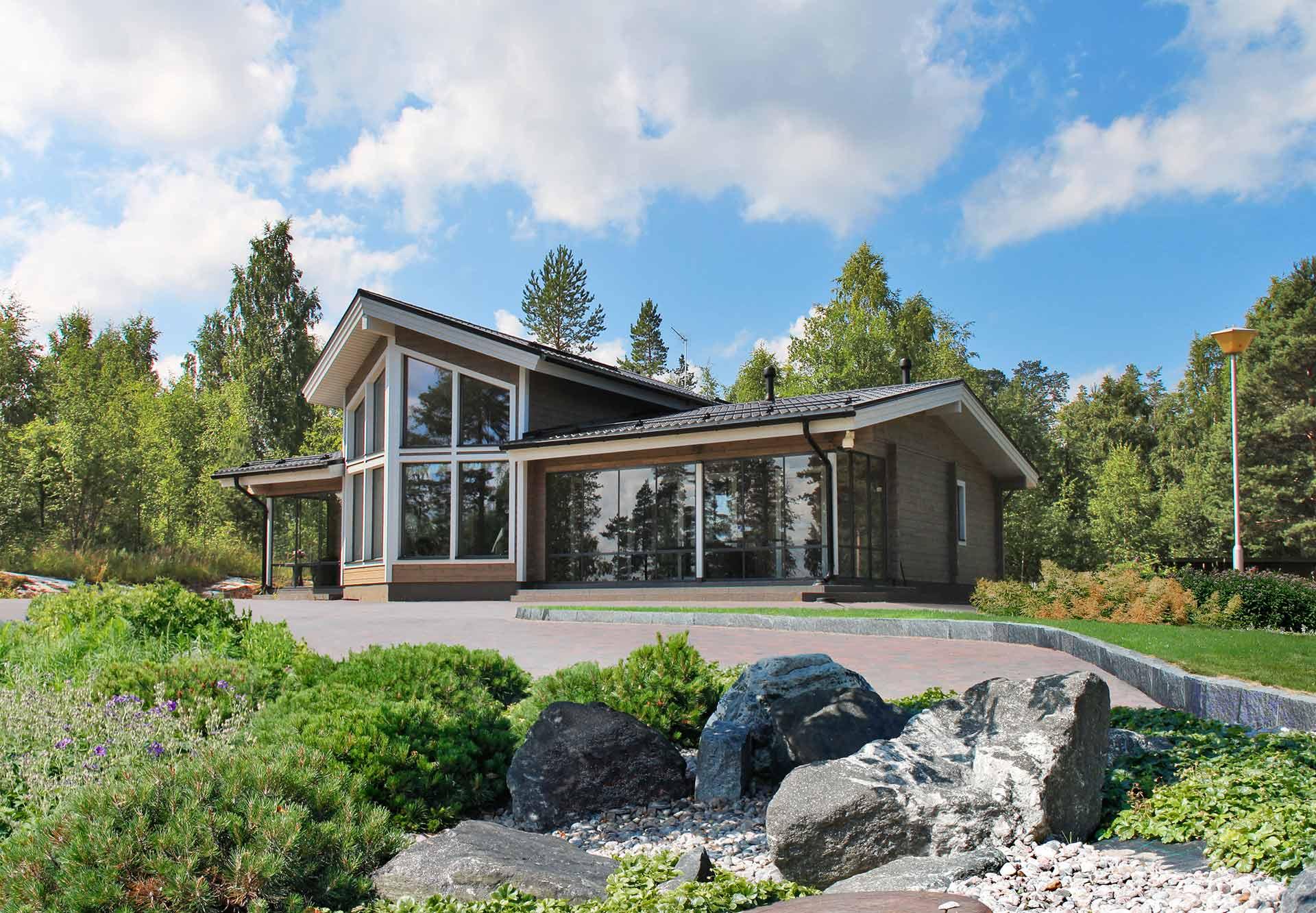 Практичный деревянный дом