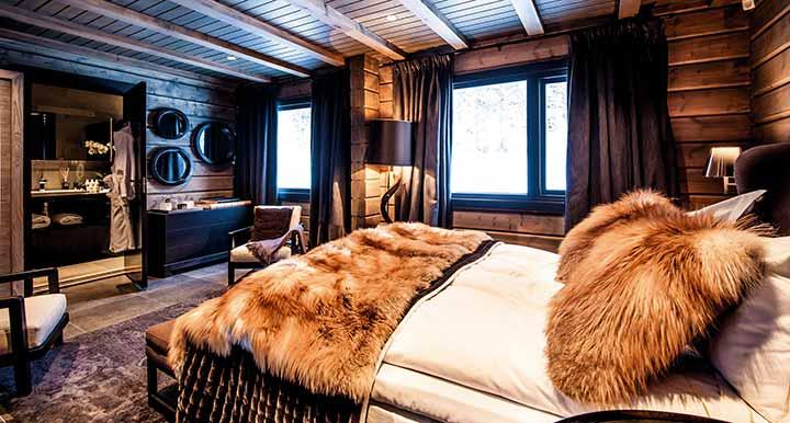 Современный брутальный дизайн спальни