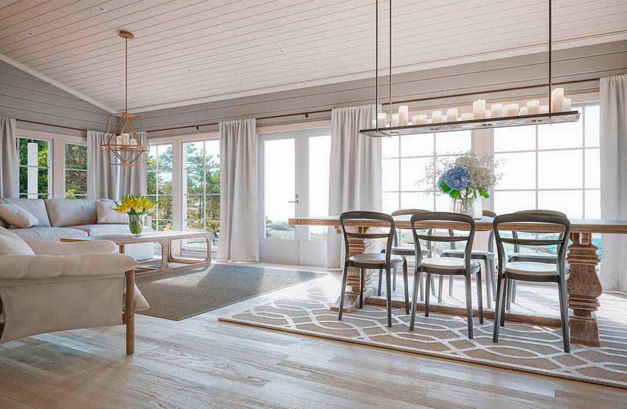 Светлый дизайн дома внутри