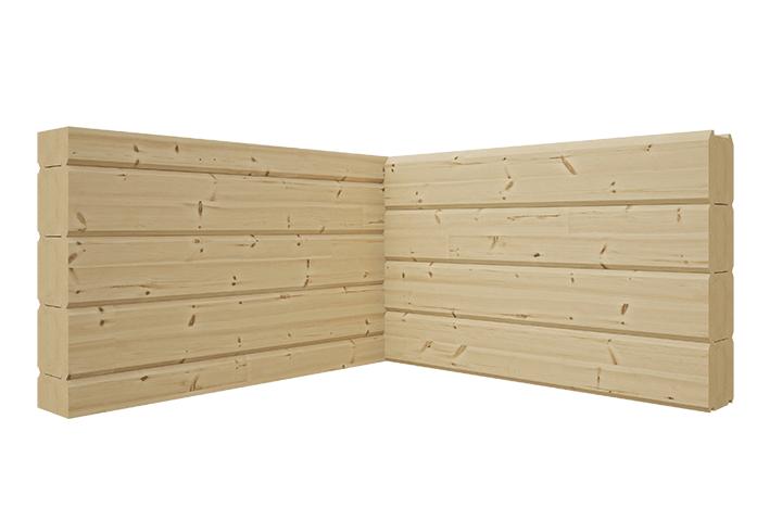 Соединение деревянных стен внутри